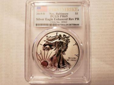 PCGS PR69 2019-S Baltimore Silver Eagle
